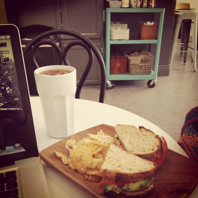 Lunch break at a cute coffee shop
